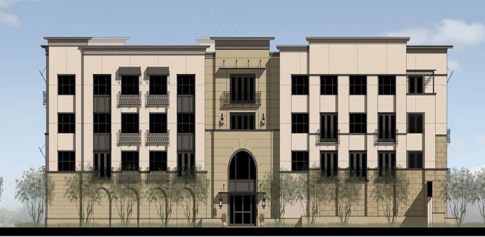 Oxford Flats Elevation Rendering