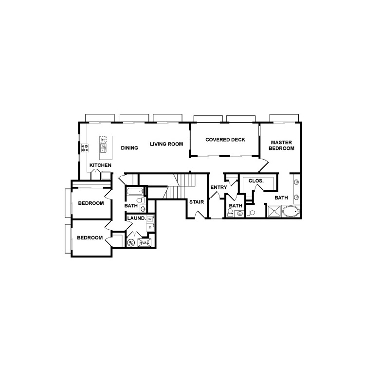 Oxford Flats Floor Plans - Plan 2